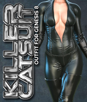 Exnem Killer Catsuit for G8 Female 3D Figure Assets exnem