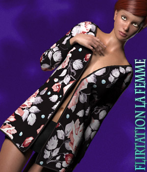 Dynamic Collection - Flirtation - La Femme 3D Figure Assets La Femme Pro - Female Poser Figure kaleya