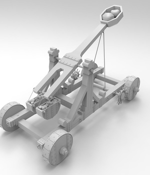 Catapult - Extended License 3D Game Models : OBJ : FBX 3D Models Extended Licenses adt0192