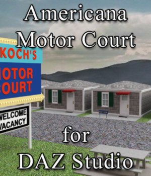 Americana Motor Court for DAZ Studio 3D Models VanishingPoint