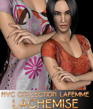 NYC Collection: LaChemise 3D Figure Assets La Femme Female Poser Figure 3DSublimeProductions