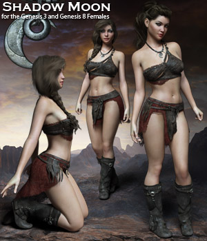 Shadow Moon for the G3 and G8 Females - Extended License 3D Figure Assets Extended Licenses RPublishing