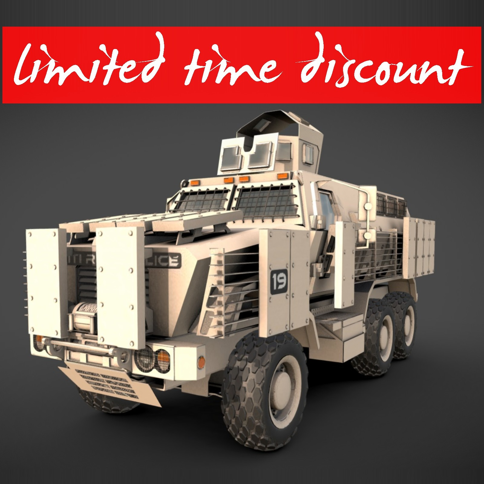 Caiman MRAP Extended License by MohamedAmir