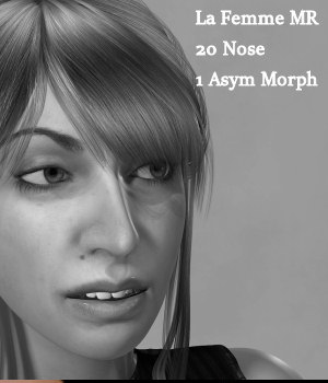 MR Funky Noses for La Femme 3D Figure Assets La Femme Pro - Female Poser Figure Merchant Resources Karth