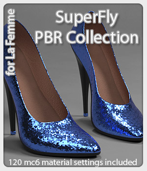 SuperFly PBR Collection for La Femme FMPs  3D Figure Assets La Femme Female Poser Figure karanta
