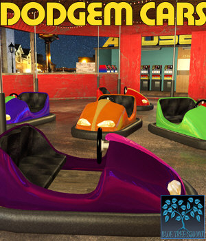 Dodgem Cars for Poser 3D Models BlueTreeStudio