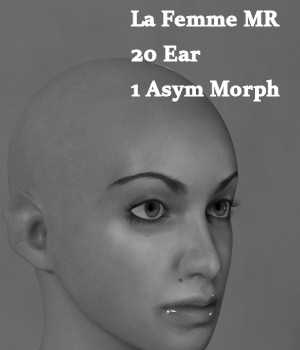 MR Funky Ears for La Femme 3D Figure Assets La Femme Pro - Female Poser Figure Merchant Resources Karth