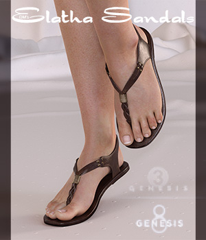 DMs Elatha Sandals 3D Figure Assets DM