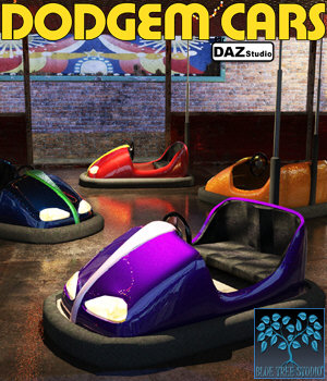 Dodgem Cars for Daz Studio 3D Models BlueTreeStudio