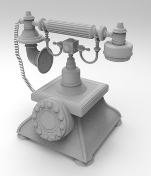 Retro styled telephone - Extended License 3D Game Models : OBJ : FBX 3D Models Extended Licenses adt0192