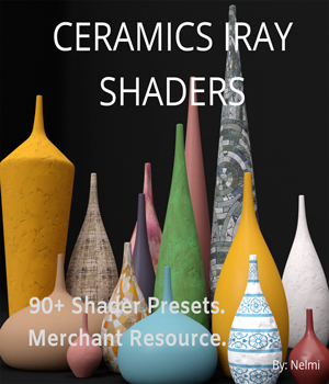 Ceramics Iray Shaders - Merchant Resource 3D Figure Assets nelmi