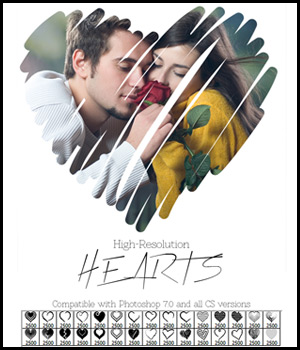 FS Hearts Brushes 2D Graphics FrozenStar
