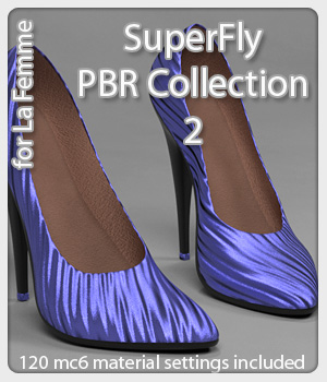 SuperFly PBR Collection 2 for La Femme FMPs 3D Figure Assets La Femme Female Poser Figure karanta