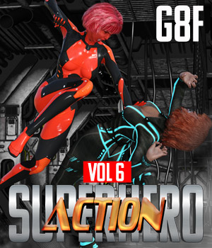 SuperHero Action for G8F Volume 6 3D Figure Assets GriffinFX