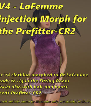 La Femme injection for Prefittter-CR2 La Femme Pro - Female Poser Figure 3D Software : Poser : Daz Studio FVerbaas