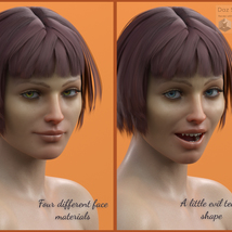 Lily Flower for Genesis 8 Female image 6
