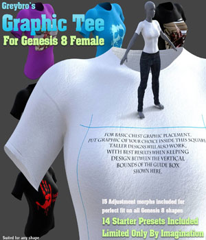 Greybro's Graphic Tee for Genesis 8 Female 3D Figure Assets Disciple3d