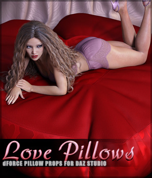 dForce Love Pillow Props 3D Models lilflame