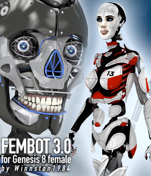 Fembot 3.0 for Genesis Female 8 3D Figure Assets winnston1984