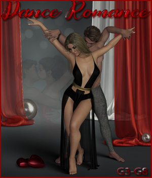 Dance Romance - Poses for G3 and G8 M-F 3D Figure Assets ilona