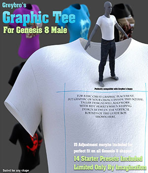 Greybro's Graphic Tee for Genesis 8 Male 3D Figure Assets Disciple3d
