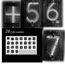 Cyber Numbers PS Brushes and Layers image 4