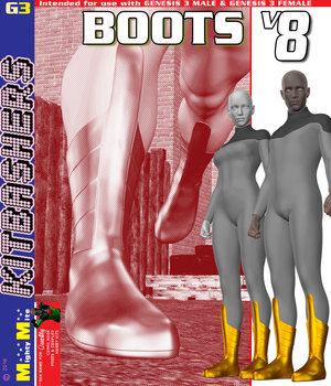 Boots v008 MMKBG3 3D Figure Assets MightyMite