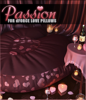 Passion for dForce Love Pillows 3D Figure Assets Sveva