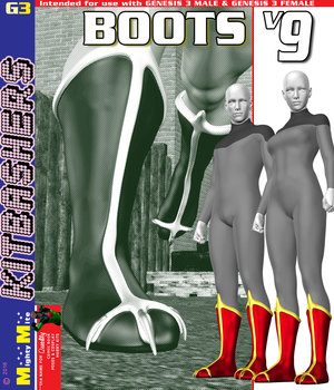 Boots v009 MMKBG3 3D Figure Assets MightyMite