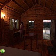 Wooden Cabin for Poser and DS image 3