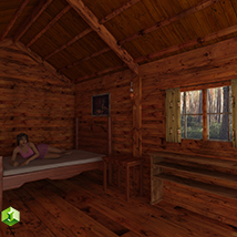 Wooden Cabin for Poser and DS image 4