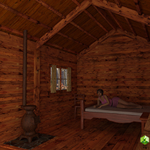 Wooden Cabin for Poser and DS image 5