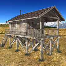 Wooden Cabin for Poser and DS image 6