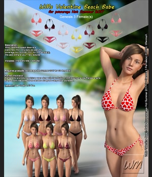 WMs Valentine Beach Babe for Hot Summer 2017 for Genesis 3 Females 3D Figure Assets WiwimaX