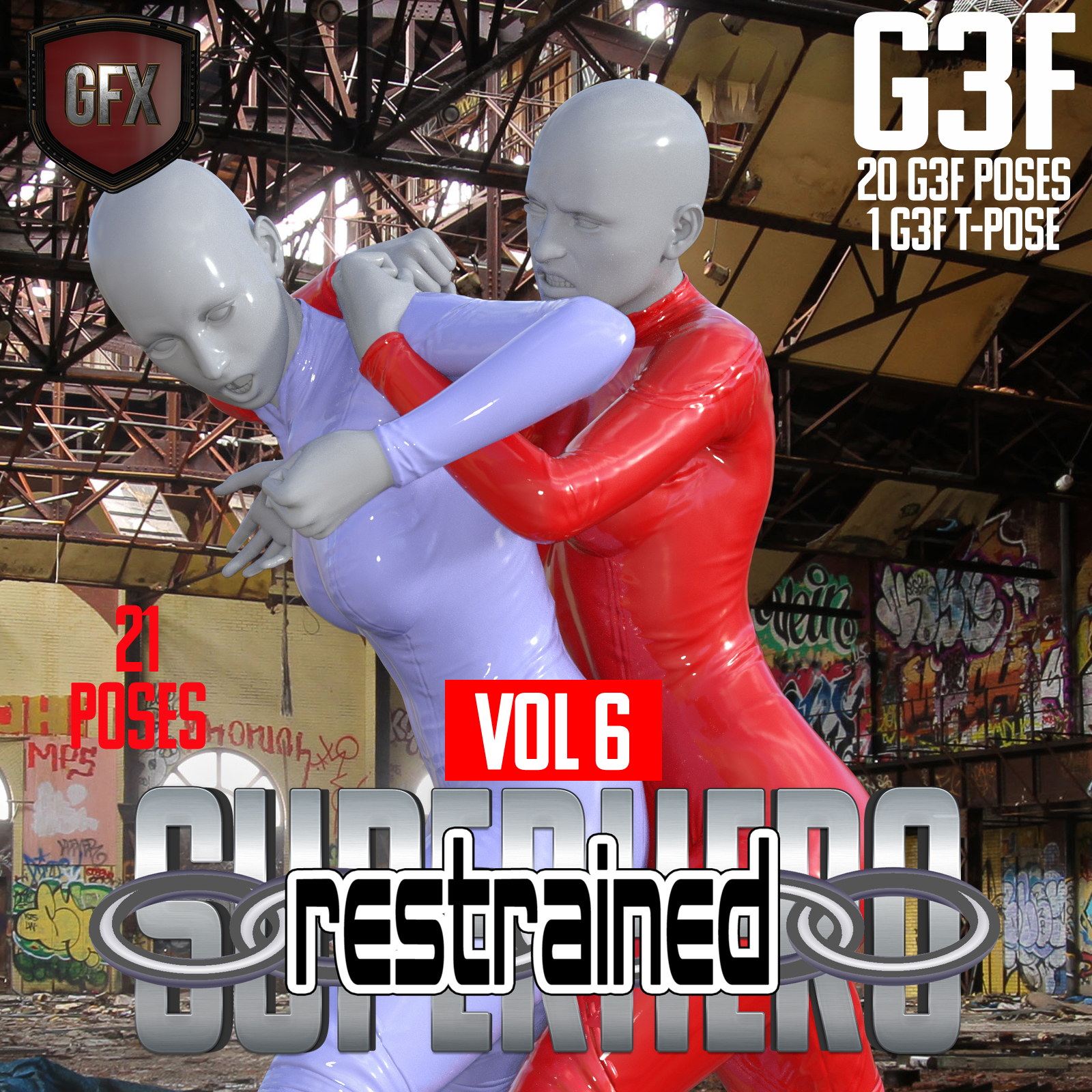 SuperHero Restrained for G3F Volume 6 by GriffinFX