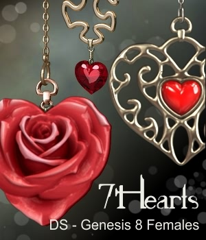 7Hearts Jewelry for Genesis 8 Females 3D Figure Assets fabiana