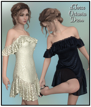 dForce - Octavia Dress for G8F 3D Figure Assets Lully
