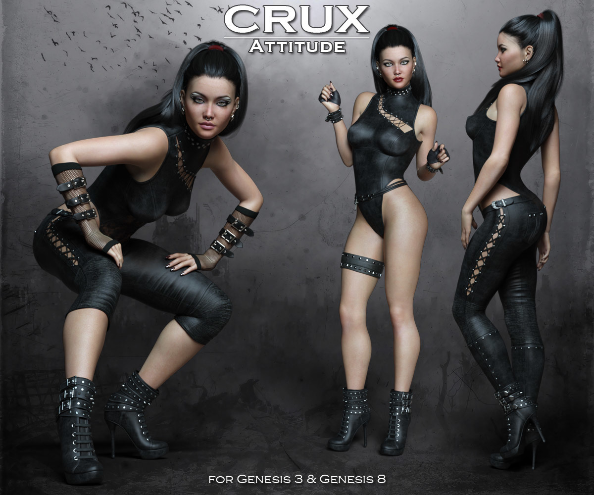 CruX Attitude for the Genesis 3 and Genesis 8 Females by Rhiannon