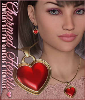 SVs Charmed Hearts Jewelry Set 3D Figure Assets Sveva