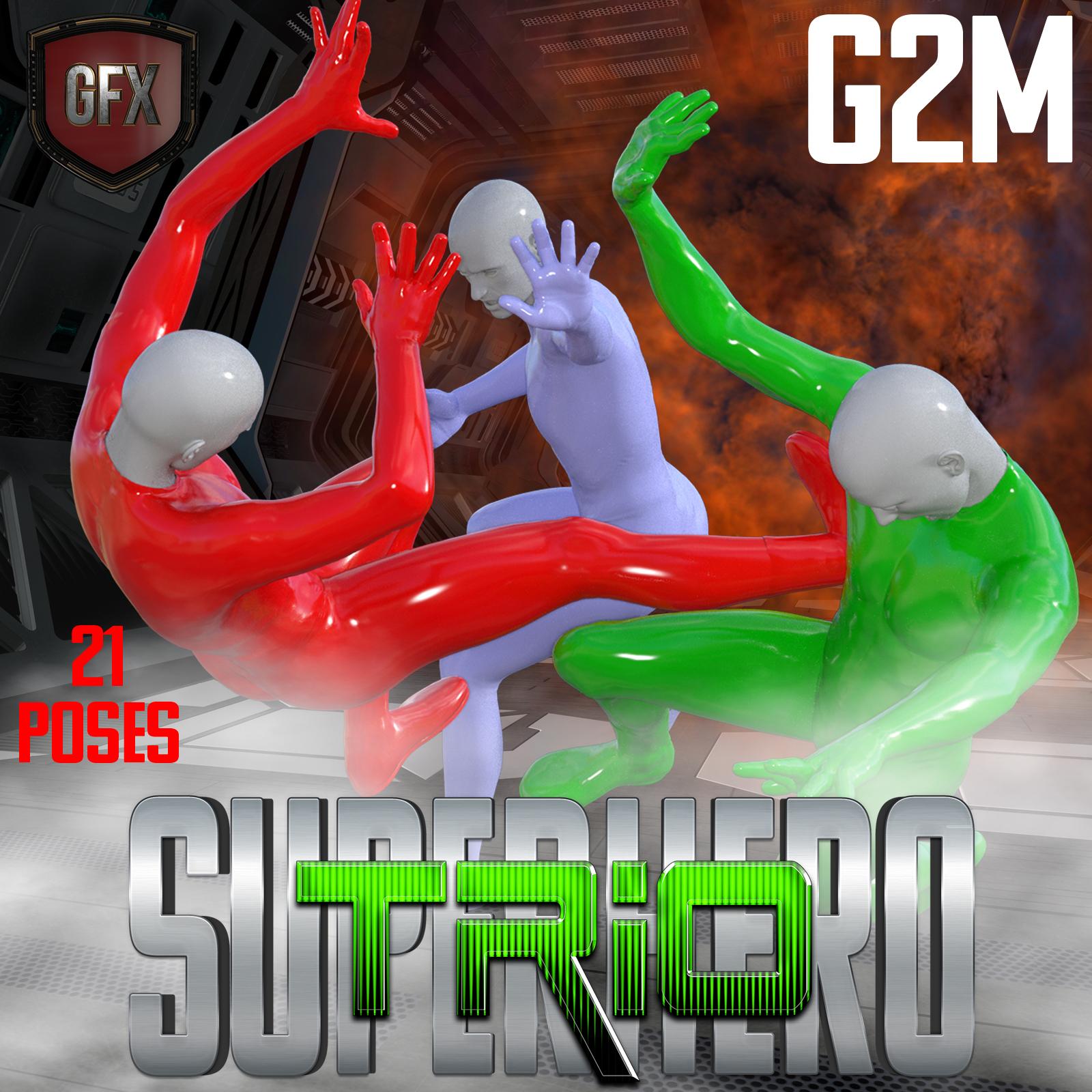 SuperHero Trio for G2M Volume 1