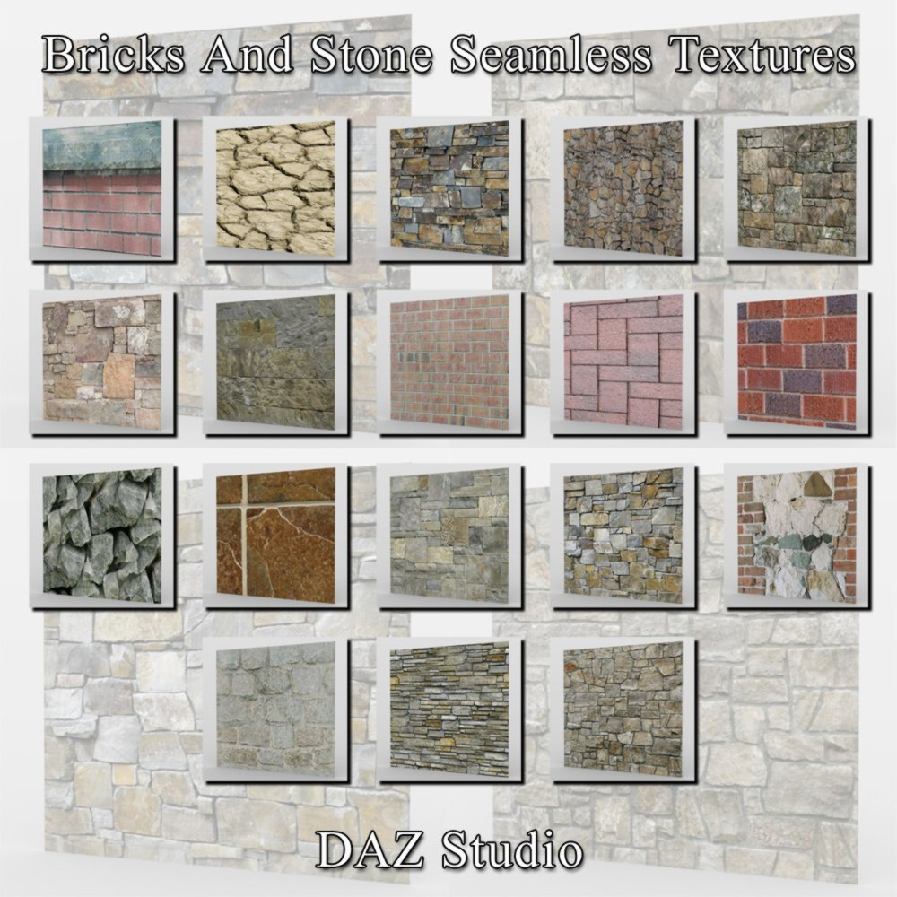 Bricks And Stone Seamless Textures for Poser and DAZ Studio