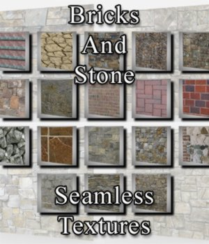 Bricks And Stone Seamless Textures for Poser and DAZ Studio 3D Figure Assets VanishingPoint