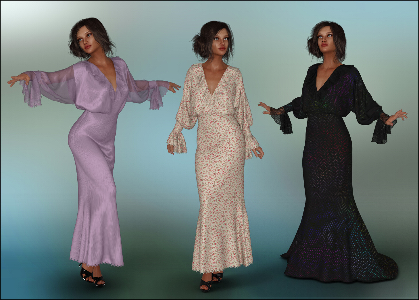 dForce - Poetria Gown for G8F by Lully