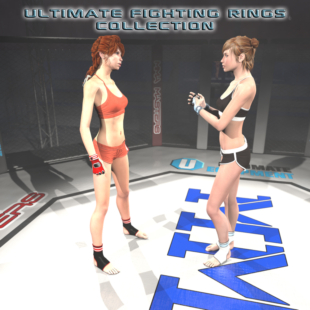Ultimate Fighting Rings Collection for Poser
