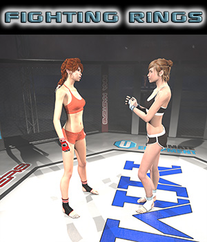 Ultimate Fighting Rings Collection for Poser 3D Models 2nd_World