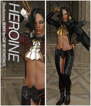 HEROINE - Desdemone REMIX for G8F 3D Figure Assets Anagord