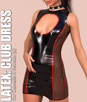 Latex: Club Dress 3D Figure Assets OneSix