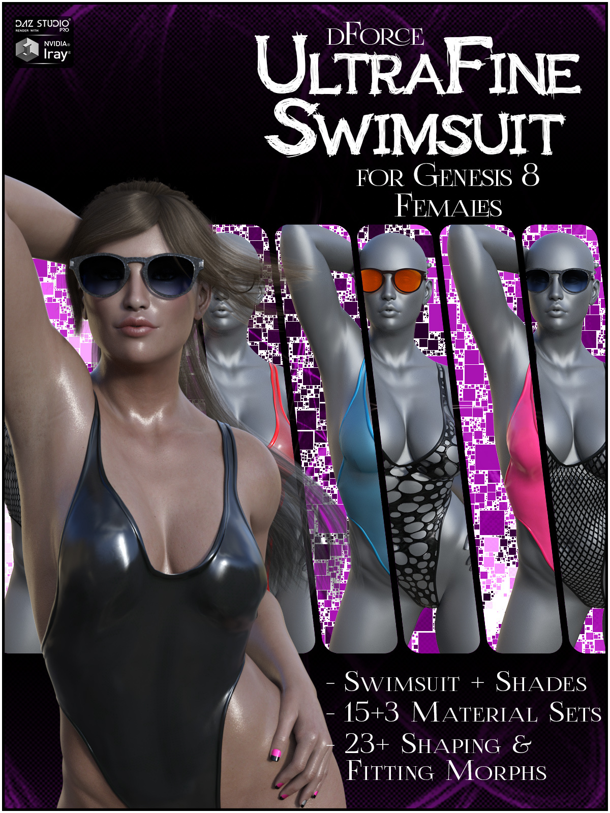 dForce UltraFine Swimsuit for Genesis 8 Females by SWTrium