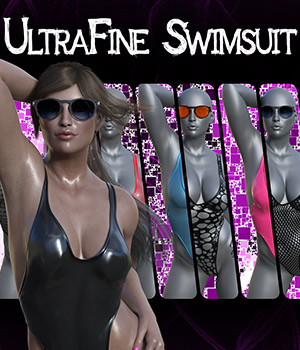 dForce UltraFine Swimsuit for Genesis 8 Females 3D Figure Assets SWTrium