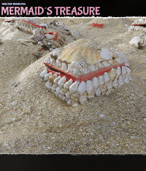 Macro Worlds: Mermaids Treasure - Extended License 3D Models Extended Licenses ShaaraMuse3D